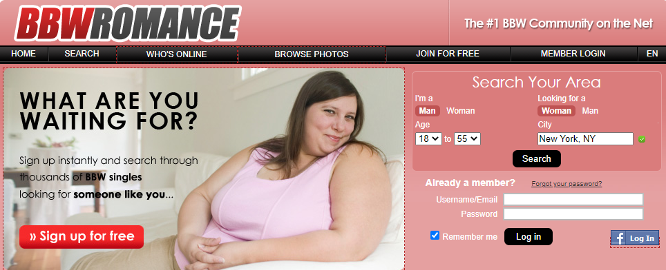 BBW Romance Dating for BBW Over 30