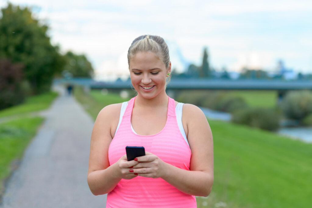 British BBW texting while jogging