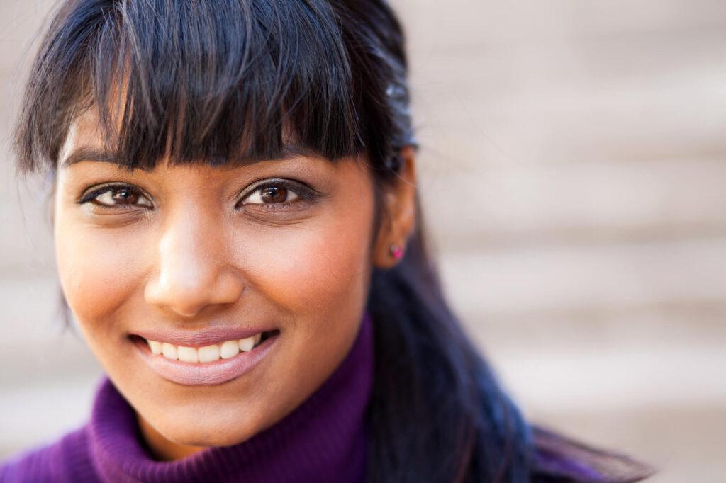 beautiful smiling indian girl