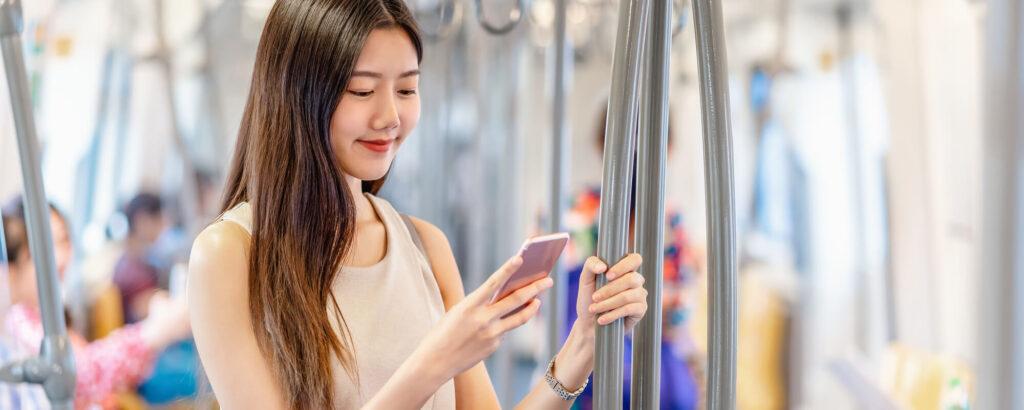 japanese girl in transport