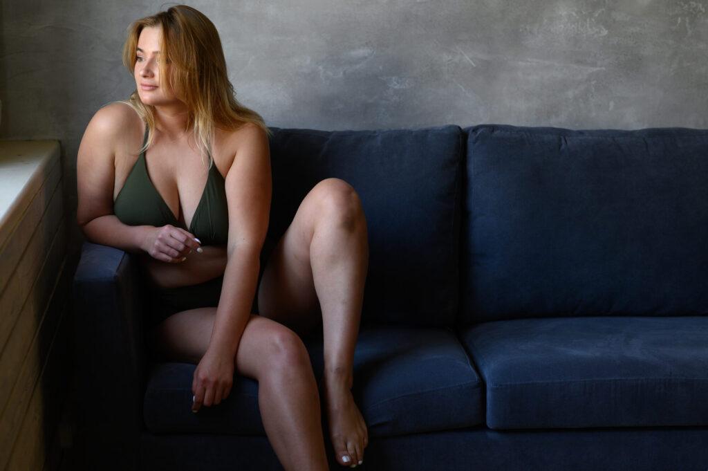 beautiful plump woman